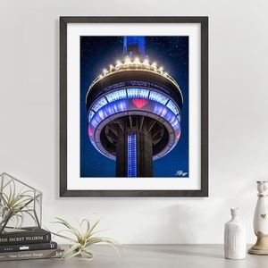 Original art CN Tower Toronto COVID heart